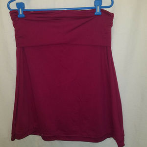 NORTH FACE L Purple Roll Down Skirt Recycled